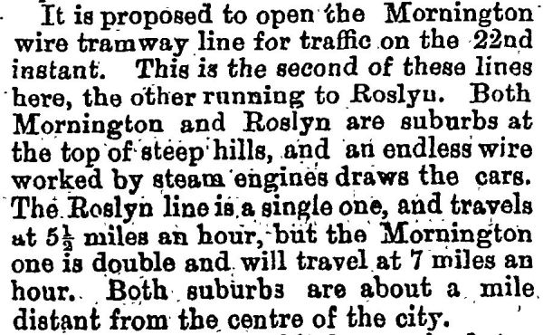 Mornington tram opening