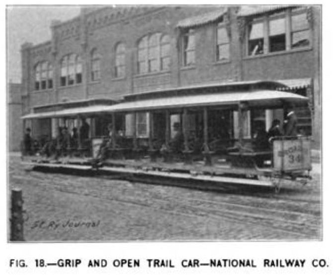 Fig. 18 -- Grip and open trail car -- national railway co.