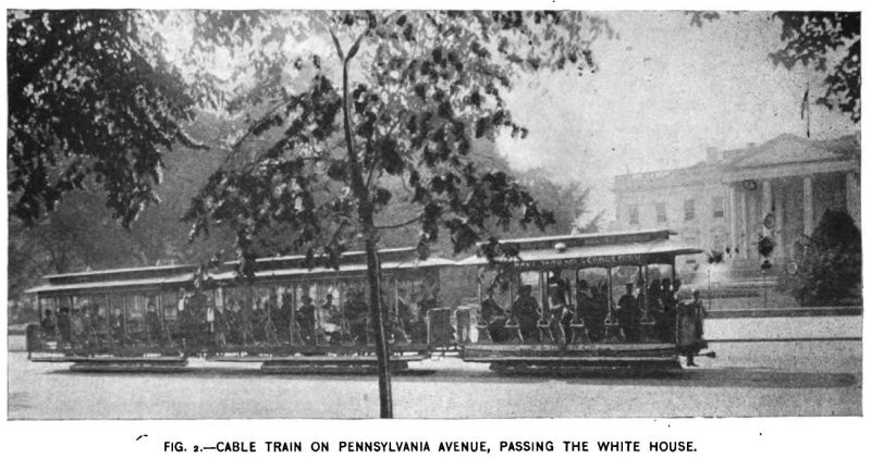 Fig. 2 -- Cable Train on Pennsylvania Avenue, Passing the White House