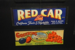 Red Car fruit crate label