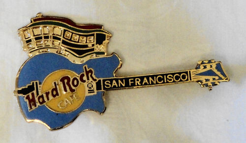 Hard Rock Cable Car and Guitar Pin