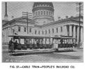 Fig. 27 -- Cable train -- Cable Train -- People's Railroad Co.